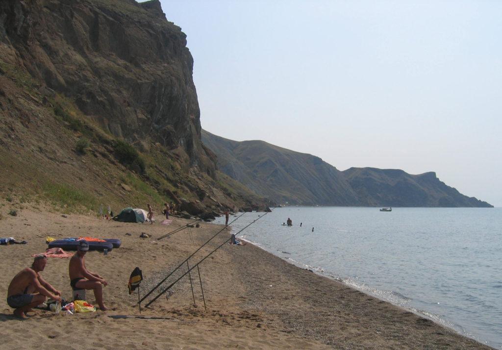 rybolov na pláži